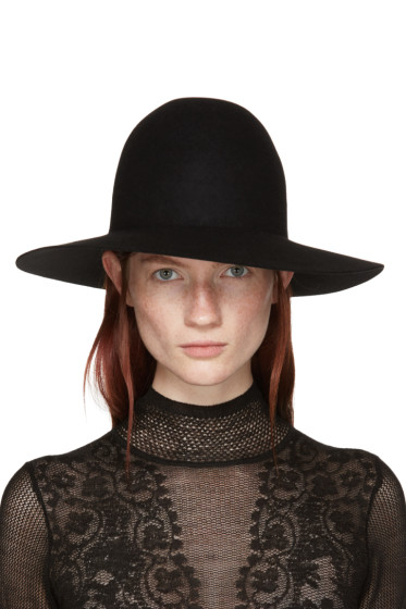Lanvin - Black Felted Fur Hat