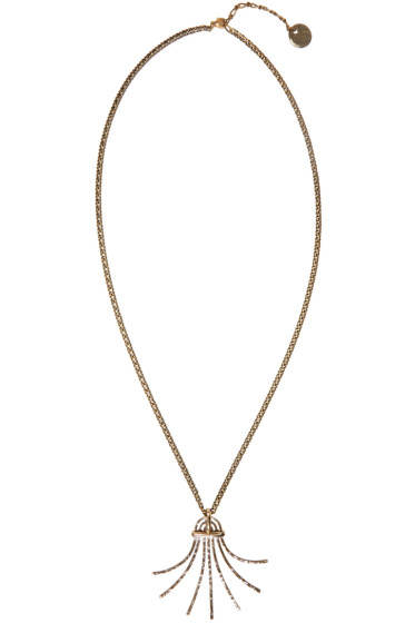 Lanvin - Gold Palm Pendant Necklace