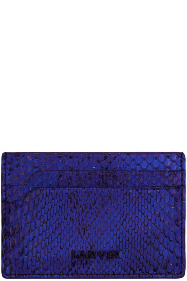 Lanvin - Blue Python Card Holder