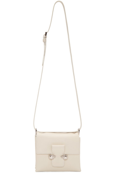 Alexander McQueen - White Twin Skulls Shoulder Bag