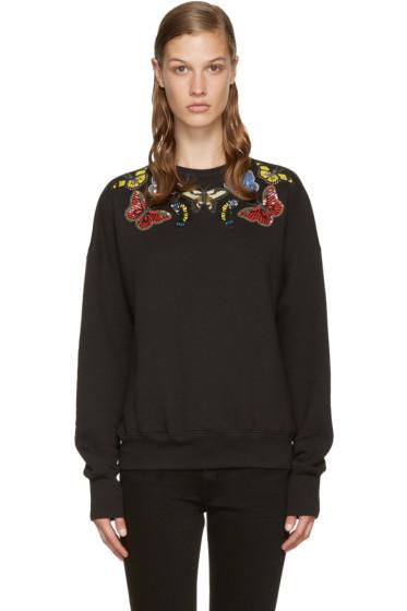Alexander McQueen - Black Embroidered Butterflies Pullover