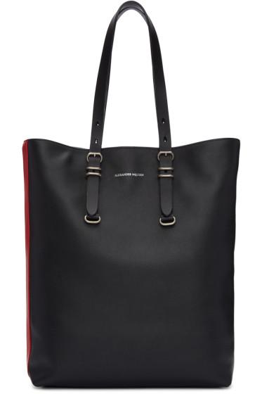 Alexander McQueen - Black Leather Tote Bag
