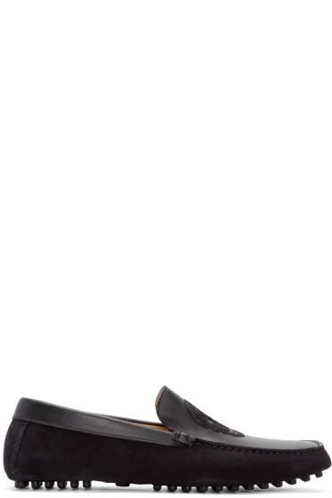 Alexander McQueen - Black Suede Skull Loafers