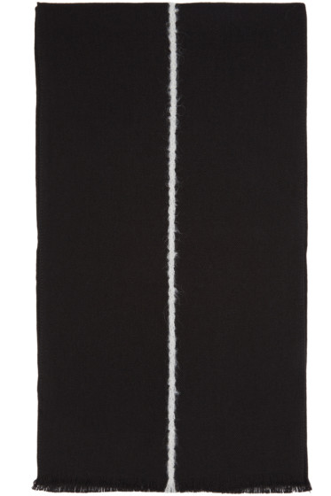 Paul Smith - Black Single Stripe Scarf
