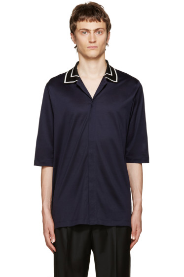 Paul Smith - Navy Jersey Shirt