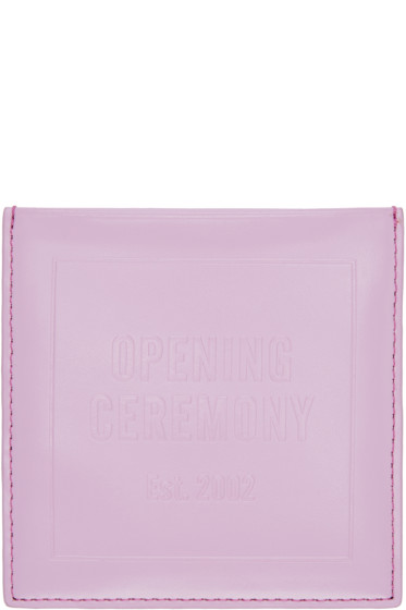 Opening Ceremony - Pink Leather Square Cardholder