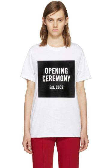 Opening Ceremony - White Logo T-Shirt
