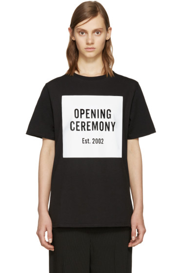 Opening Ceremony - Black Logo T-Shirt