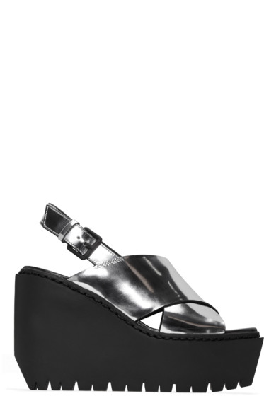 Opening Ceremony - Silver Luna Wedge Sandals