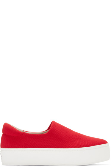 Opening Ceremony - Red Platform Slip-On Sneakers
