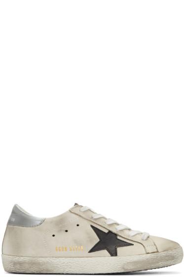Golden Goose - Off-White Nubuck Superstar Sneakers