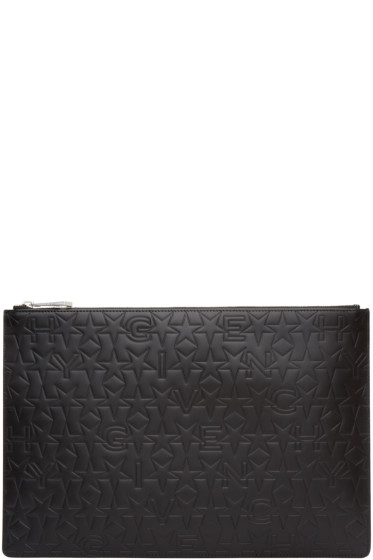 Givenchy - Black Embossed Iconic Pouch
