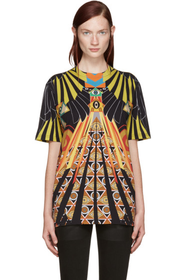 Givenchy - Multicolor Optical Wings T-Shirt