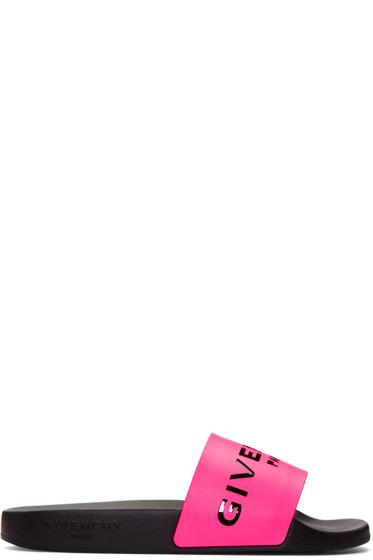 Givenchy - Pink Logo Sandals
