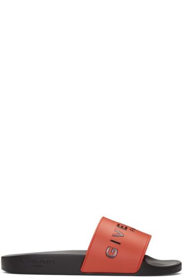 Givenchy - Red Logo Slides