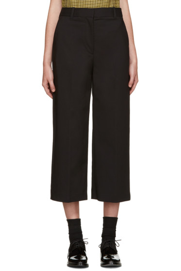 3.1 Phillip Lim - Black Wide-Leg Cropped Trousers