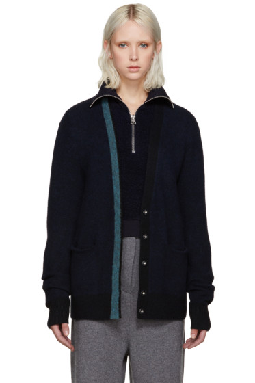 3.1 Phillip Lim - Navy Contrast Collar Sweater