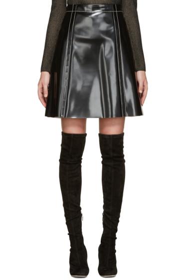 Proenza Schouler - Black Coated A-Line Skirt