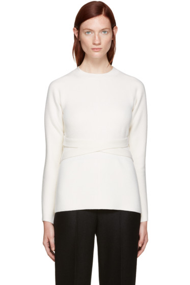 Proenza Schouler - Ivory Belted Sweater
