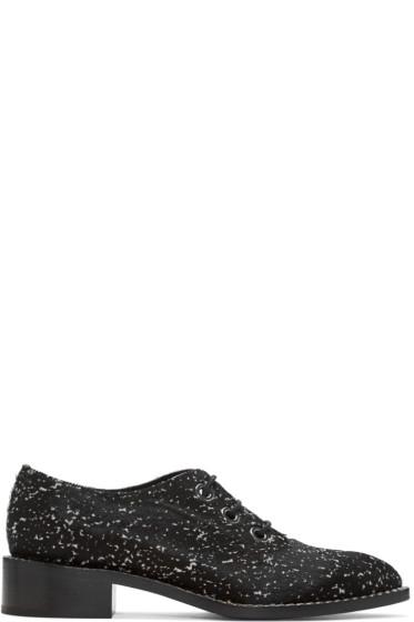Proenza Schouler - Black Calf-Hair Splash Oxfords