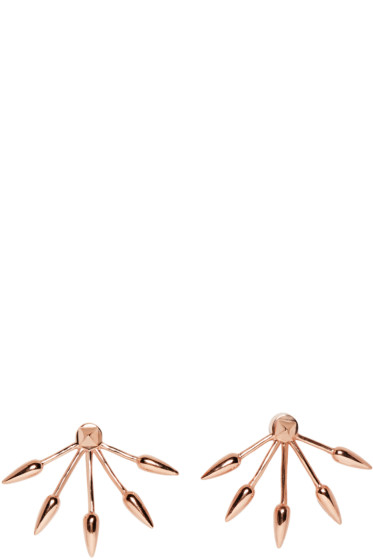 Pamela Love - Rose Gold 5 Spike Earrings
