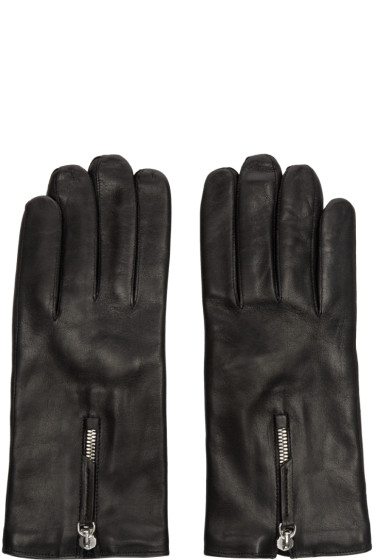 Want Les Essentiels - Black Leather Gloves