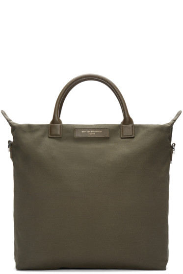 Want Les Essentiels - Green Canvas O'Hare Shopper Tote