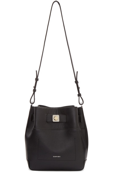 Carven - Black Leather Shoulder Bag