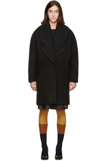 Carven - Black Wool Classic Coat