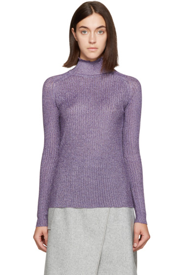 Carven - Purple Metallic Turtleneck