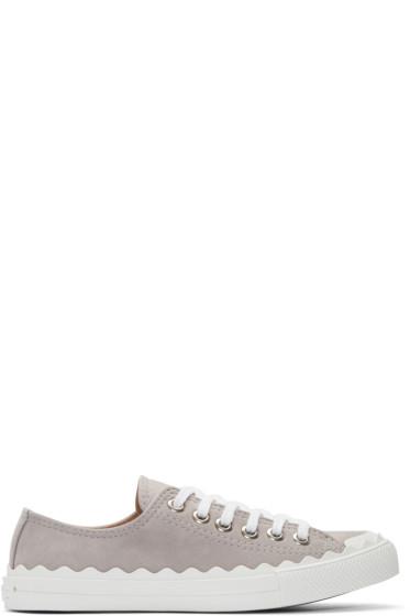 Chloé - Grey Suede Kyle Sneakers