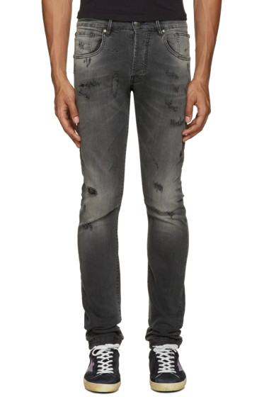 Pierre Balmain - Grey Ripped Jeans