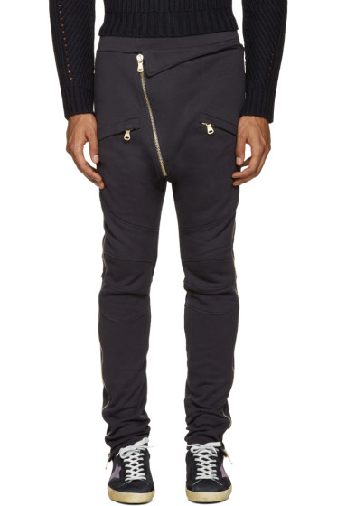 Pierre Balmain - Navy Zippered Lounge Pants