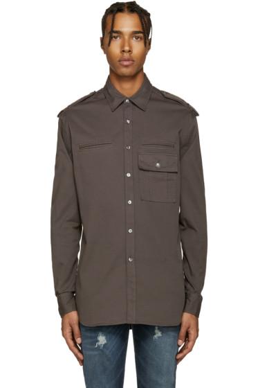Pierre Balmain - Grey Epaulet Shirt
