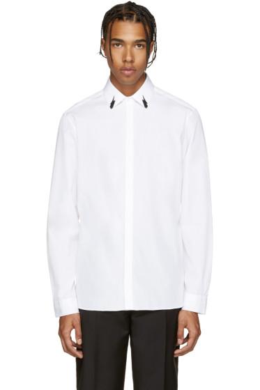 Neil Barrett - White Poplin Tunderbolt Shirt