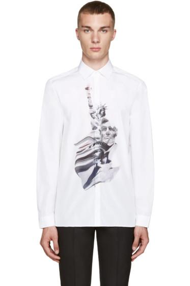 Neil Barrett - White Liberty Presidents Shirt
