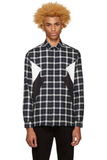 Neil Barrett - Grey Flannel Plaid Shirt