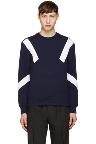 Neil Barrett - Navy Retro Modernist Pullover