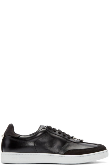 Neil Barrett - Black Pierced Punk Retro Sneakers
