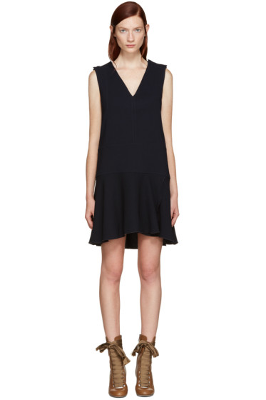 See by Chloé - Navy V-Neck Dress