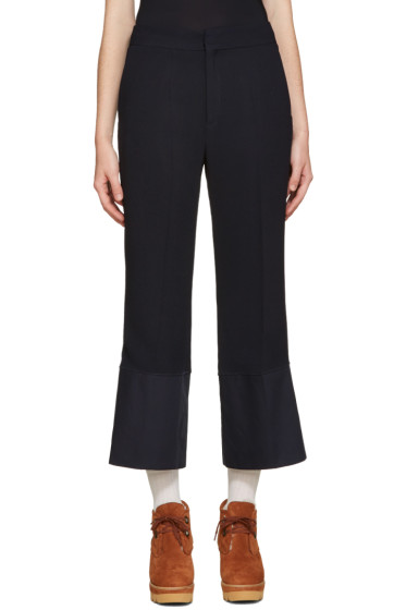 See by Chloé - Navy Crepe Trousers