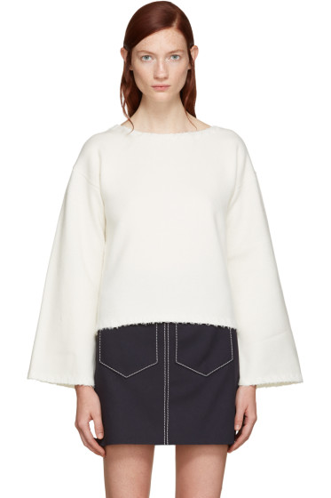 See by Chloé - White Ribbon Trim Sweater
