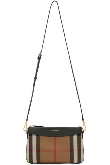 Burberry - Green House Check Shoulder Bag