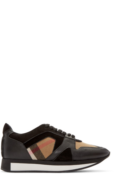 Burberry - Black Housecheck Field Sneakers