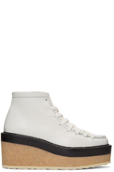 Pierre Hardy - White Trapper Ankle Boots