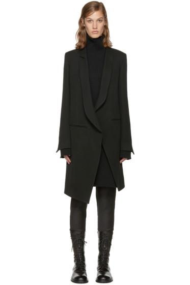 Ann Demeulemeester - Black Asymmetric Coat