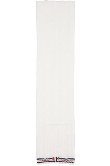 Thom Browne - White Funmix Pocket Scarf