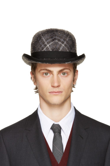 Thom Browne - Grey Stephen Jones Edition Bowler Hat