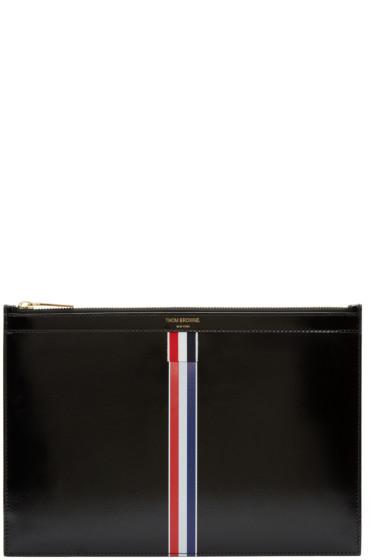 Thom Browne - Black Small Striped Document Holder