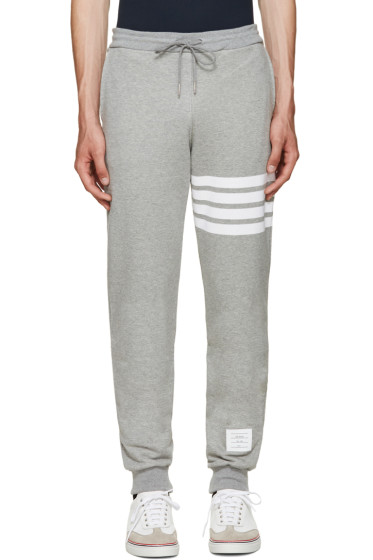 Thom Browne - Grey Classic 4 Bar Lounge Pants
